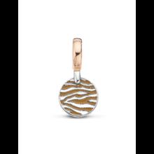 Tirisi Moda TIRISI-Bedel-zilver-met-18k-rosegoud-bruin-ivoor-en-zebra-motief-TM6152CA(2P)