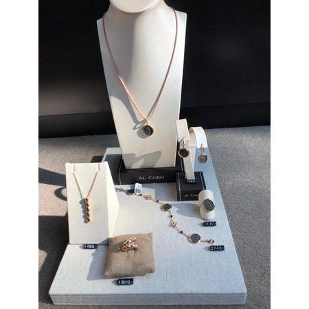 AL CORO AL CORO Palladio Armband 18k Roségoud met antieke muntjes NB49955R