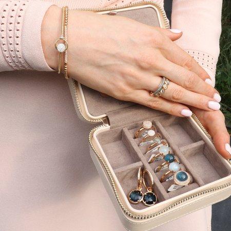 Bron BRON Creolen 20mm 18k Roségoud met diamant 7OR477920BR
