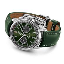 Breitling Breitling horlogeband 22MM groen kalfsleer voor vouwslot 508X