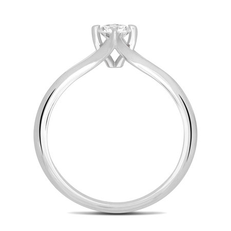 R&C R&C Ring Eloise 14k Witgoud met 0.10ct PW Diamant RIN2127-010-PW