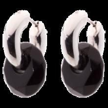 Jarrèl JARRÈL Creoolhangers BROLO met zwarte onyx  1105.on