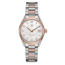 Tag Heuer TAG Heuer Carrera Quartz Ladies Mother of Pearl Steel & Rose Gold capped WAR1352.BD0779