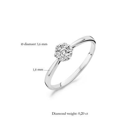 Blush Blush Ring 14k witgoud met diamant 1612WDI