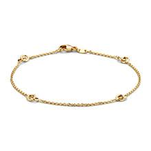 Mrs.Janssen Mrs.Janssen Armband 14k geelgoud met verbonden cirkels 607717