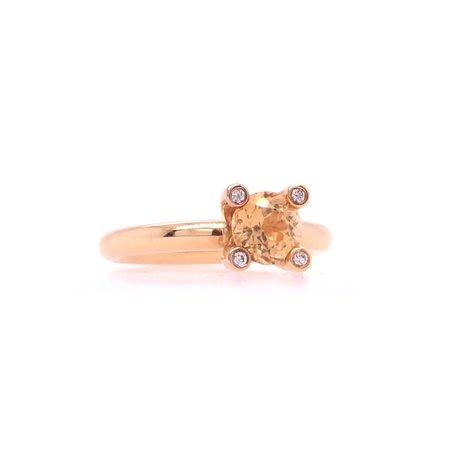 Bron BRON Ring Phlox 18k Roségoud met gele grossulaar 8RR4715YGBR