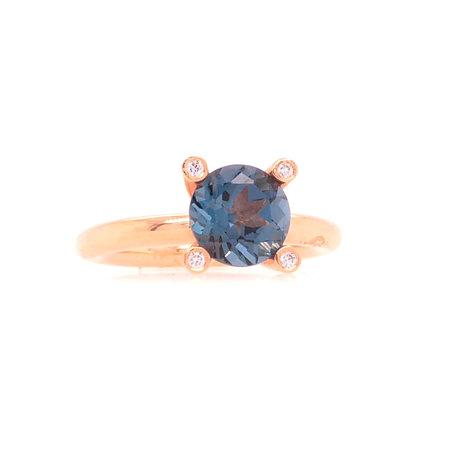 Bron BRON Ring Phlox 18k Roségoud met London blue topaas 8RR4531TLBR