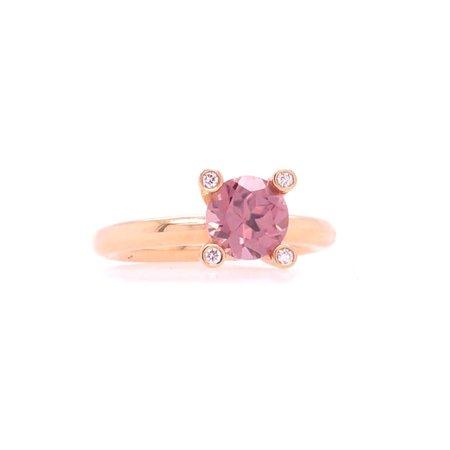 Bron BRON Ring Phlox 18k Roségoud met roze zirkoon 4RR4787ZRBR