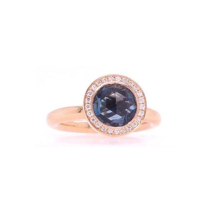 Bron BRON Ring Sushi 18k Roségoud met London blue topaas 8RR4532BTLBR