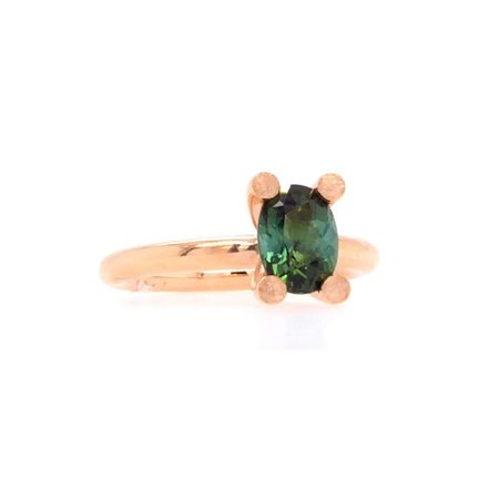 Bron BRON Ring Phlox 18k Roségoud met groene toermalijn 8RR4819GT