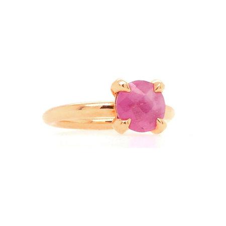 Bron BRON Ring Catch 18k Roségoud met roze korund 8RR4811SAS