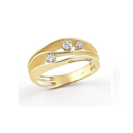 Annamaria Cammilli Annamaria Cammilli Ring Anello Dune 18K geelgoud met 0.18ct diamant GAN2662U