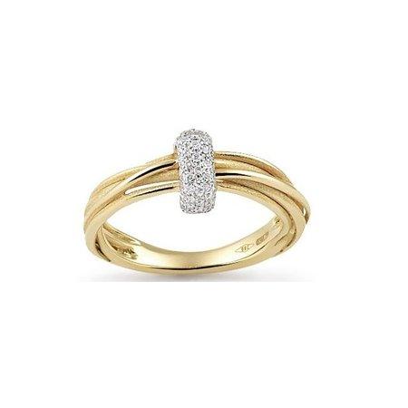 Annamaria Cammilli Annamaria Cammilli Ring Tie Chic 18K Geelgoud met 0.17ct diamant GAN2625U
