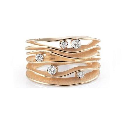 Annamaria Cammilli Annamaria Cammilli Ring Dune 18k Roségoud met 0.28ct diamant GAN0914J