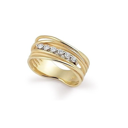 Annamaria Cammilli Annamaria Cammilli Ring Seta 18k Geelgoud met 0.17ct diamant GAN2546U