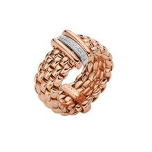 Fope FOPE Ring roségoud Vendome Flex-It 0.10ct 18k witgoud AN559 BBR R - Copy