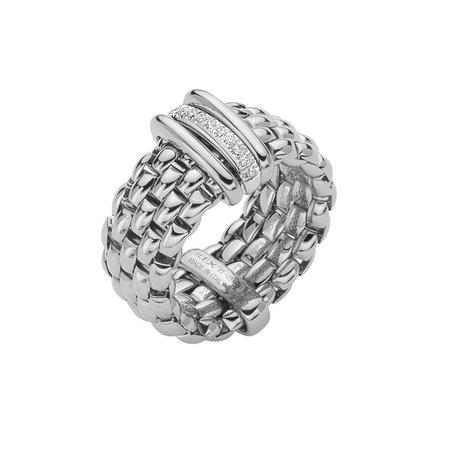 Fope FOPE Flex'it Panorama Ring 18 karaat Witgoud met 0.08ct diamant AN587 BBR M W