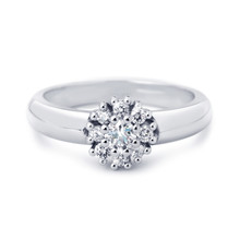 R&C R&C Ring 14k Witgoud Enthourage met diamant RIN0026-2100-W
