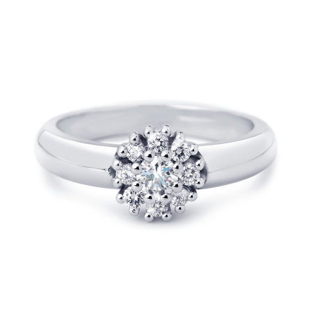 R&C R&C Ring 14k Witgoud Enthourage met diamant RIN0026-2100-W