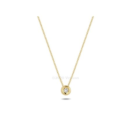 Blush Blush collier 14krt geelgoud met diamant 3606YDI