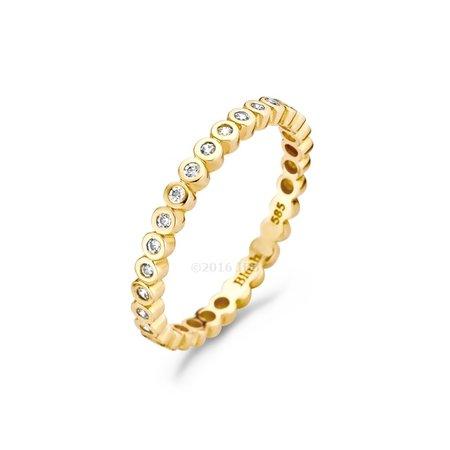 Blush Blush Ring 14k geelgoud met zirconia rondom 1120YZI