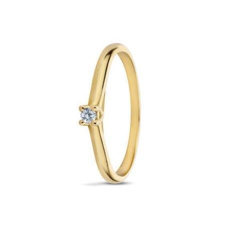 MissSpring Miss Spring MSR530GG Ring Noor 14krt geelgoud met briljant 0,08crt pikee/wesselton