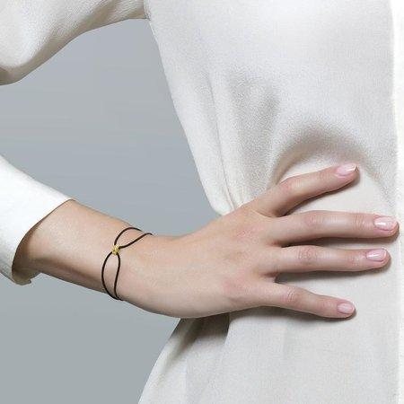 Blush Blush Armband 14k Geelgoud met zwart koord 2175YGO