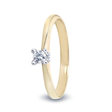 R&C R&C ring Lila geelgoud 14k diamant RIN0084 0.20crt P/W