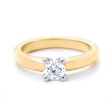 R&C R&C Ring Feline 14k geelgoud met 0.05ct P/W diamant RIN0082-0.05-PW