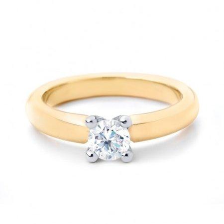 R&C R&C Ring Feline 14k geelgoud met 0.05ct P/W diamant RIN0082-0.05-PW