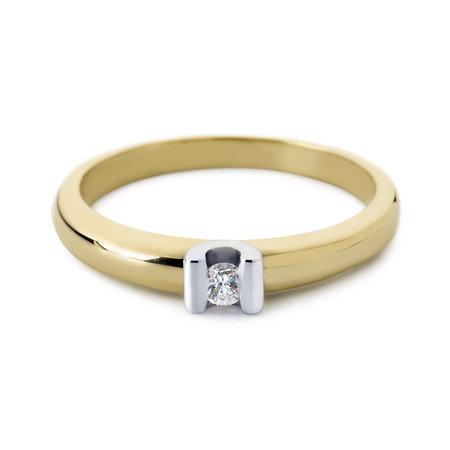 R&C R&C Ring Camille 14k geel/witgoud met 0.10ct SI/R diamant RIN0016S/GG/WG-55