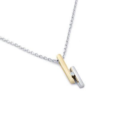 R&C R&C Hanger Penelope 14k geel/witgoud met 0.05ct SI/R diamant HAN0003/GG/WG1