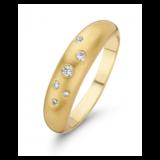 Fjory Fjory Ring sterrenhemel 14k geelgoud / zilver met 0.15ct  H/SI diamant 40-Rster-55