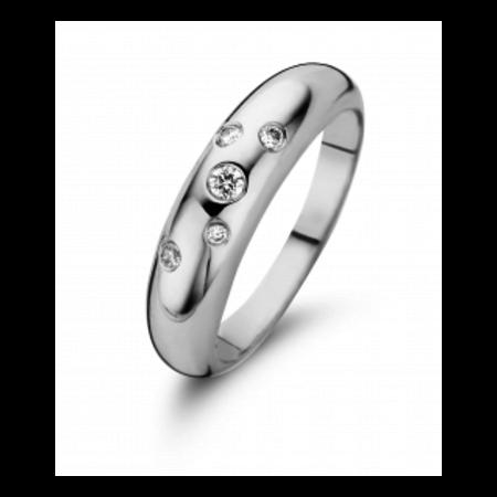 Fjory Fjory Ring sterrenhemel 14k witgoud / zilver met 0.15ct  H/SI diamant 50-Rster-55