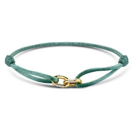 Minitials Minitials Two Unchained V2 geelgoud satin bracelet