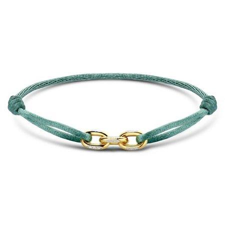 Minitials Minitials Three Unchained V2 geelgoud satin bracelet