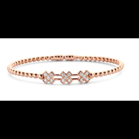 Tirisi Moda Tirisi Amsterdam Armband 18k Roségoud met 0.40ct diamant TB2120(2P)