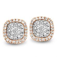 Tirisi Moda Tirisi Milano Mini Sweeties Oorknoppen 18k Roségoud met diamant  TE9235D(2p)