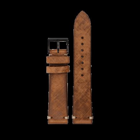 MeisterSinger MeisterSinger Horlogeband Vintage zadelleer 20mm Bruin SVSL02