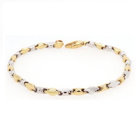 HuisCollectie HuisCollectie Armband 14k Bicolor goud 601999