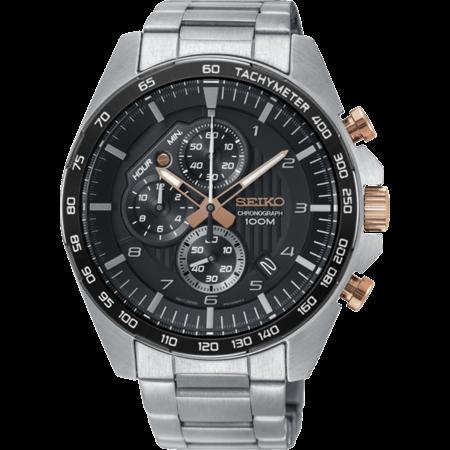 Seiko Seiko chronograph Heren quartz horloge 44mm SSB323P1