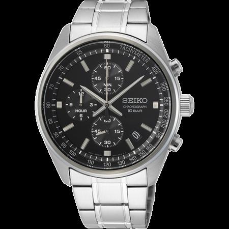 Seiko Seiko chronograph Heren quartz horloge 42 mm- SSB379P1