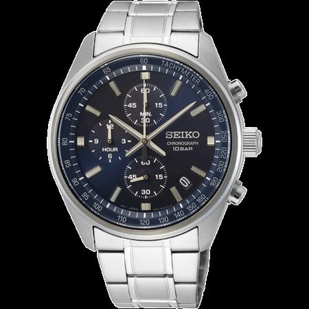 Seiko Seiko chronograph Heren quartz horloge 42 mm- SSB377P1