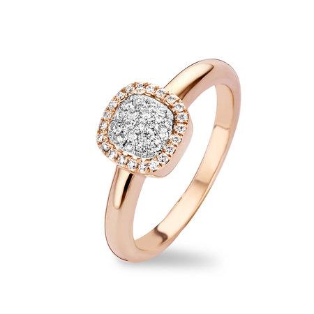 Tirisi Moda Tirisi Milano Mini Sweeties Ring 18k Roségoud met diamant  TR9632D(2P)