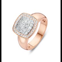 Tirisi Moda Tirisi Milano Due Ring 18k roségoud met diamant TR9698D(2P)