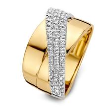 HuisCollectie HuisCollectie ring bicolor 14k met diamant 0.56ct W/SI 607855