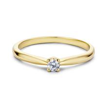 MissSpring Miss Spring Ring MSR525 geelgoud met briljant 0.05ct PW