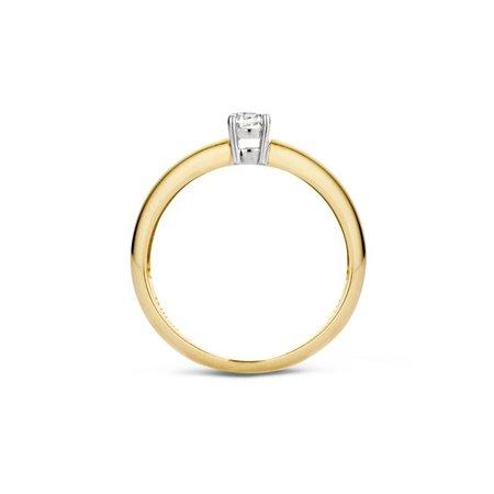 Blush Blush ring 14k geelgoud met zirkonia 4mm 1067BZI