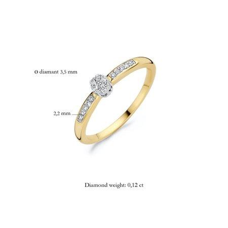 Blush Blush Ring 14k bicolor goud met diamant 1625BDI