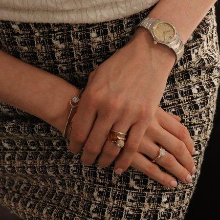 Bigli Bigli ring Mini Sweety 18krt geelgoud met witgoud  en 75 witte diamanten - 23R156YWdia